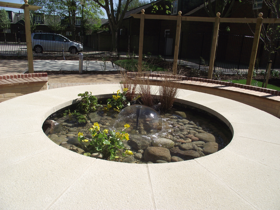 outdoor circular feature