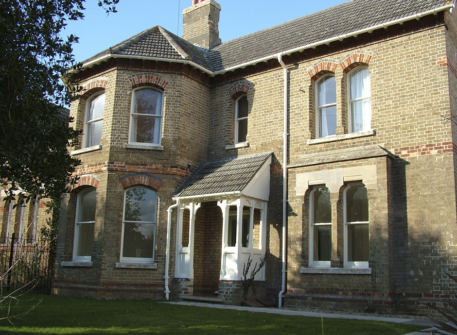 house with bay windows