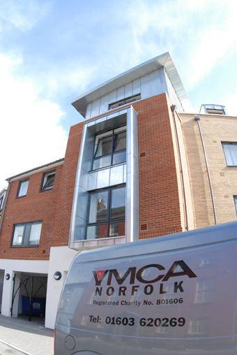 ymca van outside flats
